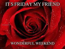 IT'S FRIDAY MY FRIEND WONDERFUL WEEKEND