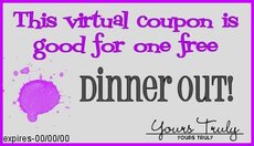 dinner out coupon