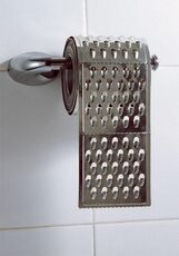 toilet paper made of cheese grater