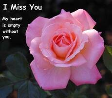 i miss you my heart is empty without you