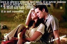 love is always patient and kind