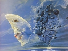 butterfly spirits kissing