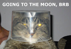going to the moon brb