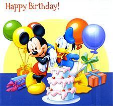 happy birthday mickey mouse donald duck