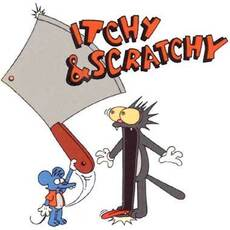 itchy &scratchy simpons