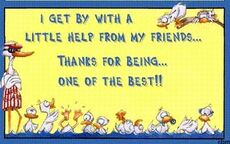 i get by with a little help from friends thanks