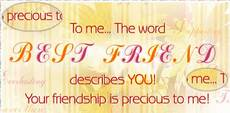 your friendship is precious to me