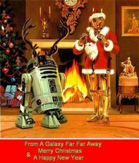 merry christmas and a happy new year star wars christmas