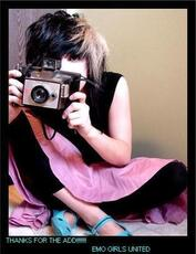 thanks for the add emo girls united camera