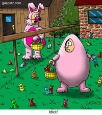 easter egg hides easter bunnies