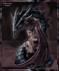demon with dragon