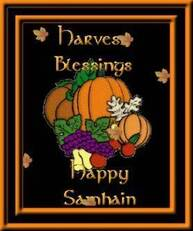 Harvest Blessings Happy Samhain