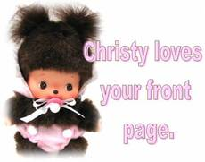 Christy Loves your front page