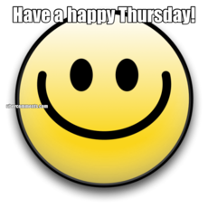 Have a happy Thursday!